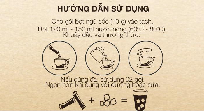 hướng dẫn sử dụng Bột ngũ cốc
