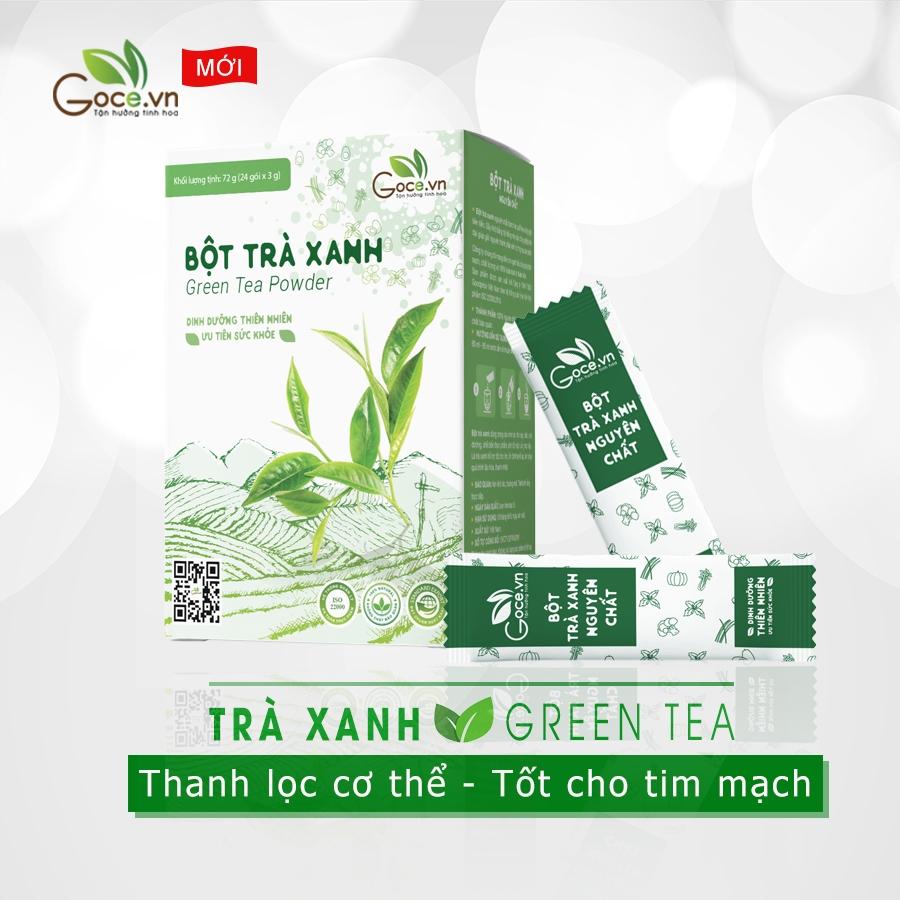 bột trà xanh nguyên chất goce